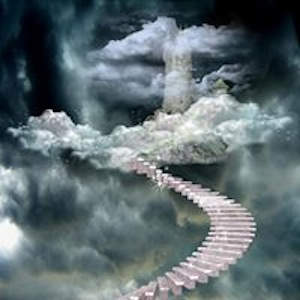 staircase to clouds