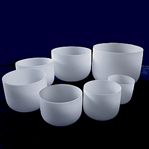 Frosted bowls different sizes