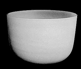 White Frosted Bowls